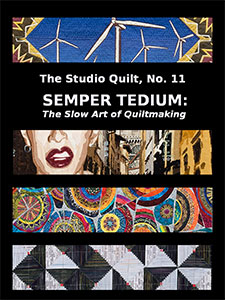 Book cover for 'Semper Tedium: The Slow Art of Quiltmaking'